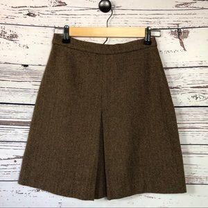 Vintage Gap Brown Tweed A-line Mini Skirt